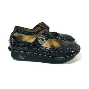 Alegria Paloma Embossed Leather Mary Jane Shoe